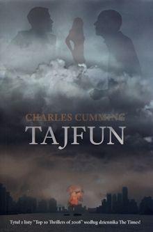 Tajfun Charles Cumming okładka książki