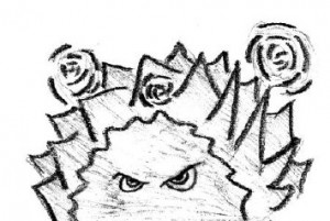 Krzak z oczami - autorstwa Marka NagrodzkiegoKrzak z oczami - autorstwa Marka Nagrodzkiego