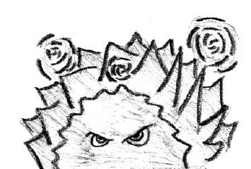 Krzak z oczami - autorstwa Marka Nagrodzkiego